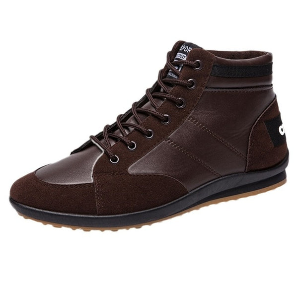 Mens Retro Shoes Ankle Boots Flats Pu Leather