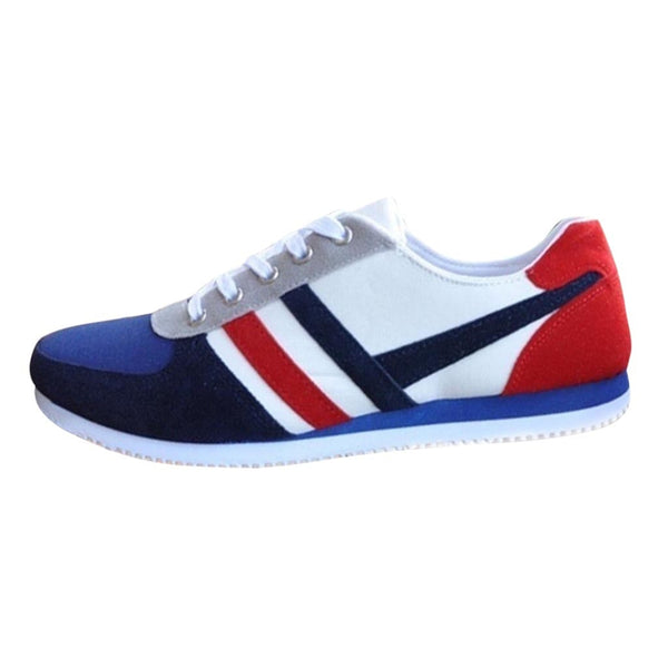 Men Sneakers Shoes Flats Lace Up Sports Loafers Canvas