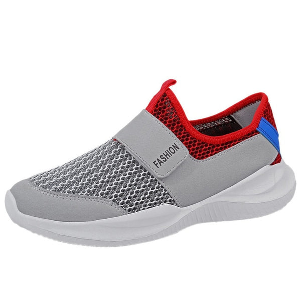 Mens Soft Shoes Flat Heel Leisure Hollow Non-Slip Breathable