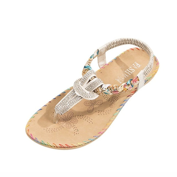 Crystal Sandals Flats Women Slipper Shoes