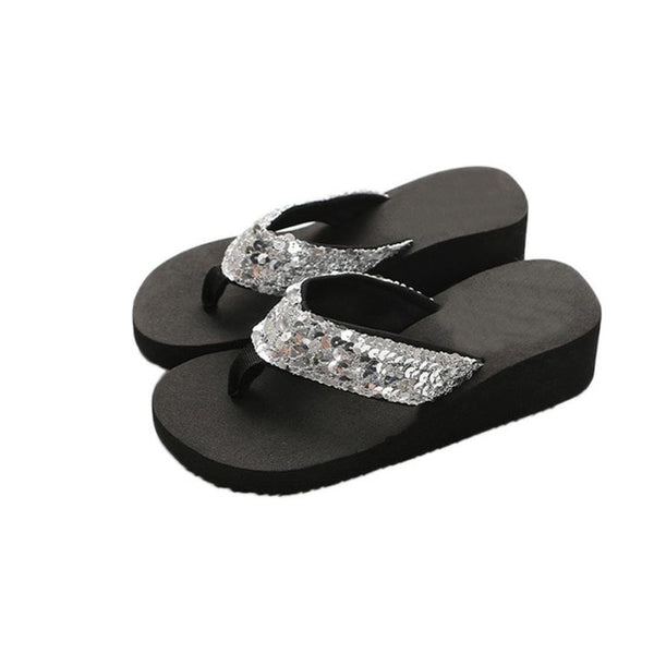 Flip Flop Slippers Women Sequins Anti-Slip Sandals