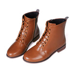 Classic Women Boots Leather Roman Riding Cowboy