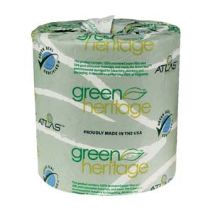 PAPR TISSUE 500-2 PLY GREEN H PK/96  #16600250