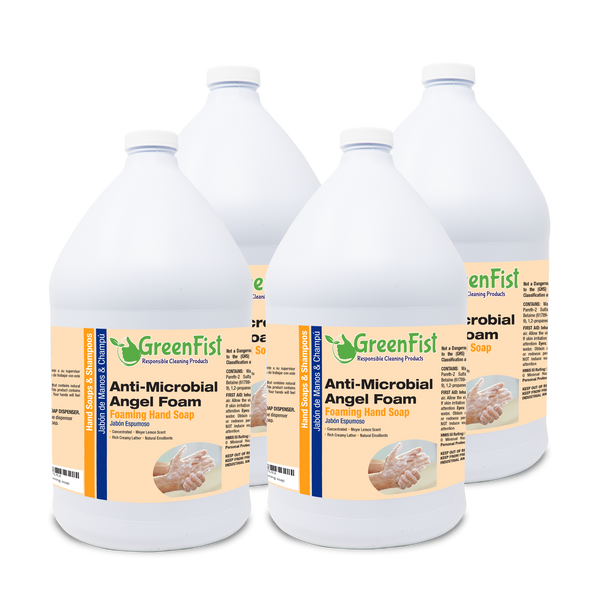 GreenFist Anti Microbial / Antibacterial Soap [ Foam Refill ] Foaming Hand Soap, 4 Gallons - GreenFist