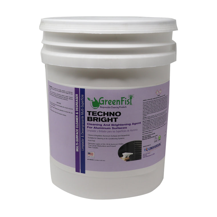 Techno Bright Aluminum Surface Degreaser Brightening And Cleaning Agent Commercial (5 Gallon)