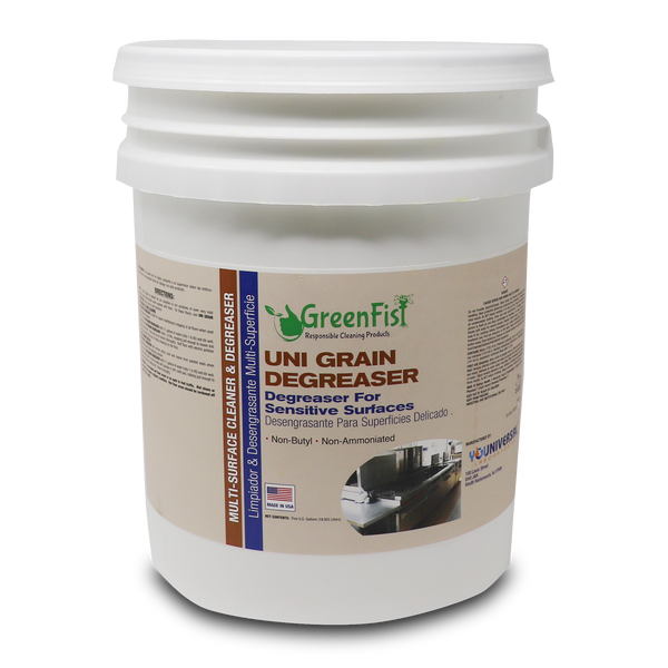 GreenFist UNIGRAIN Degreaser All Purpose Cleaner For Sensitive Surfaces [Non-Butyl,Non-Ammoniated] 5 Gallon - GreenFist