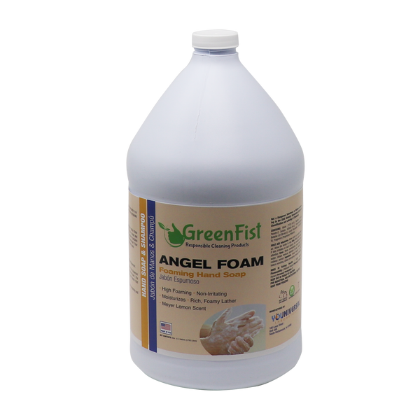 GreenFist Foaming Hand Washing Soap Angel [ Foam ] Lemon Scent 4 Gallons (4x1) 4 Gallons - GreenFist