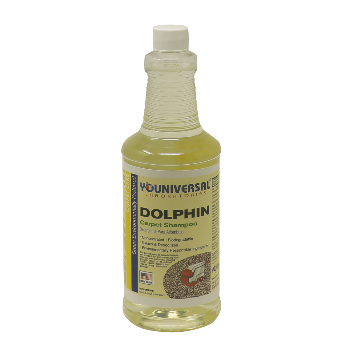 GreenFist Dolphin Carpet Shampoo 5 Gal. [ Concentrated ] Carpet Cleaner Biodegradable Makes Up to Ready To Use 640 Gallons