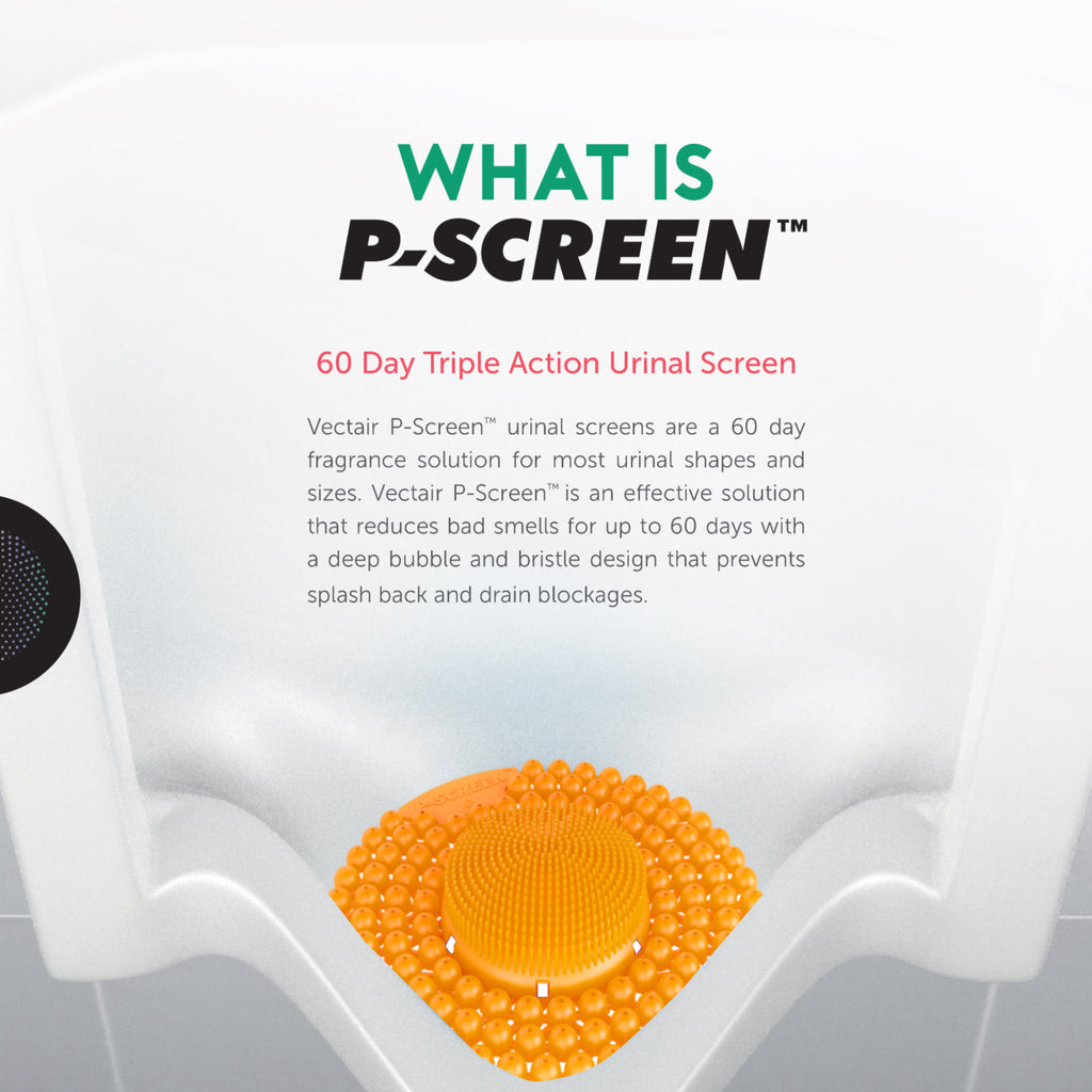 GreenFist P-Screen Long Life Urinal Screen [60 Day Fragrance & Enzyme Protection] | Citrus Mango Scent, 6 Pack