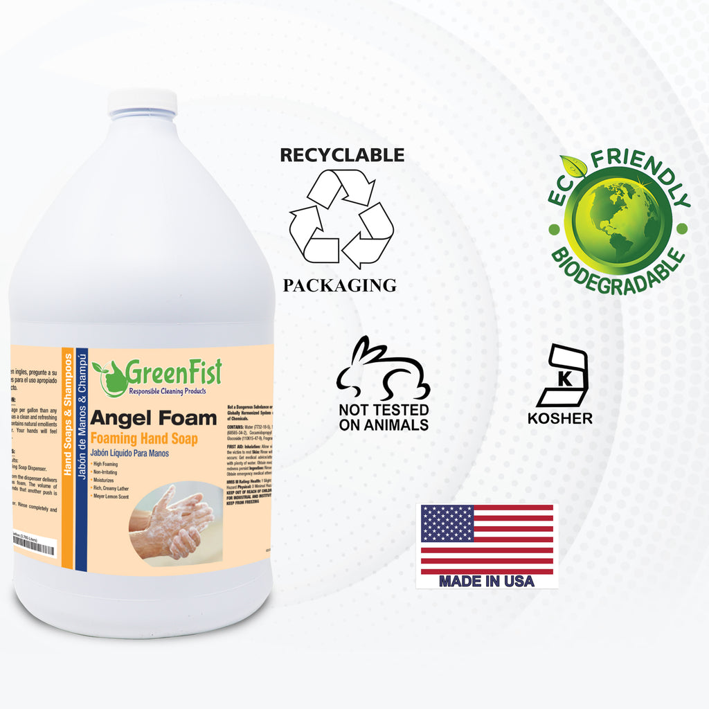 GREENFIST FOAMING HAND WASHING SOAP ANGEL [ FOAM ] LEMON SCENT 144 GALLONS (144X1) 144 GALLONS