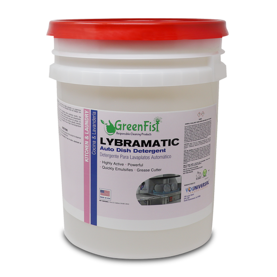 Lybramatic | Commercial Industrial Grade Dishwasher [Ready-to-Use] Detergent ,5 Gallon Pail [32 pcs], 1 Pallet ( ALASKA CUSTOMERS)