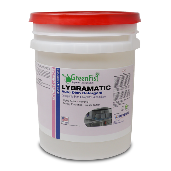 Lybramatic | Commercial Industrial Grade Dishwasher [Ready-to-Use] Detergent ,5 Gallon Pail