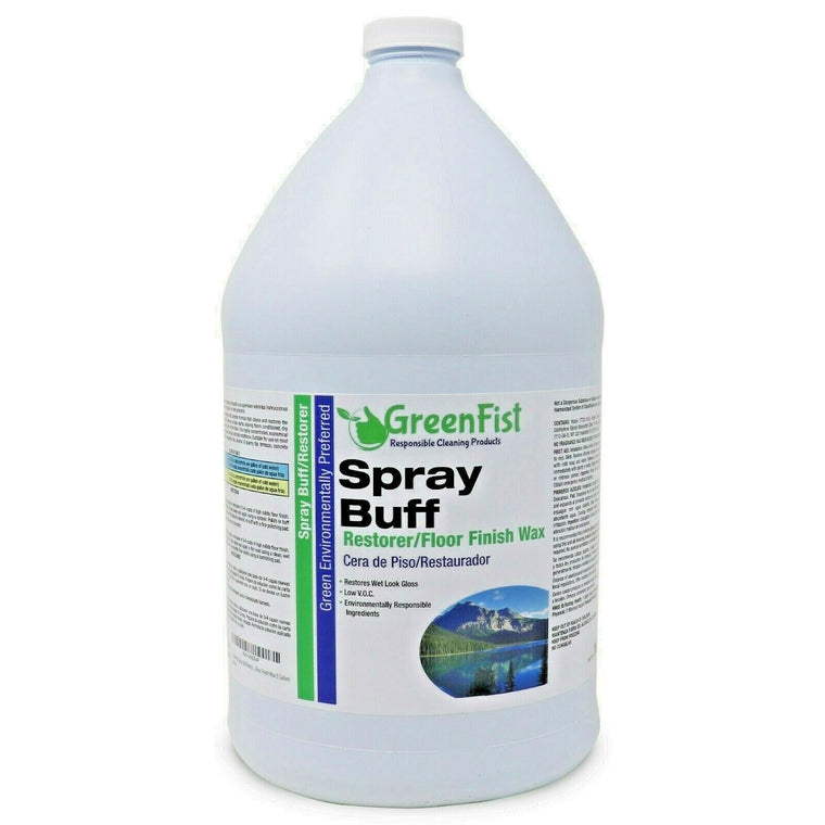 GreenFist Spray Buff Restorer Renewing Floor Finish Wax Polisher Buffer 1 Gallon