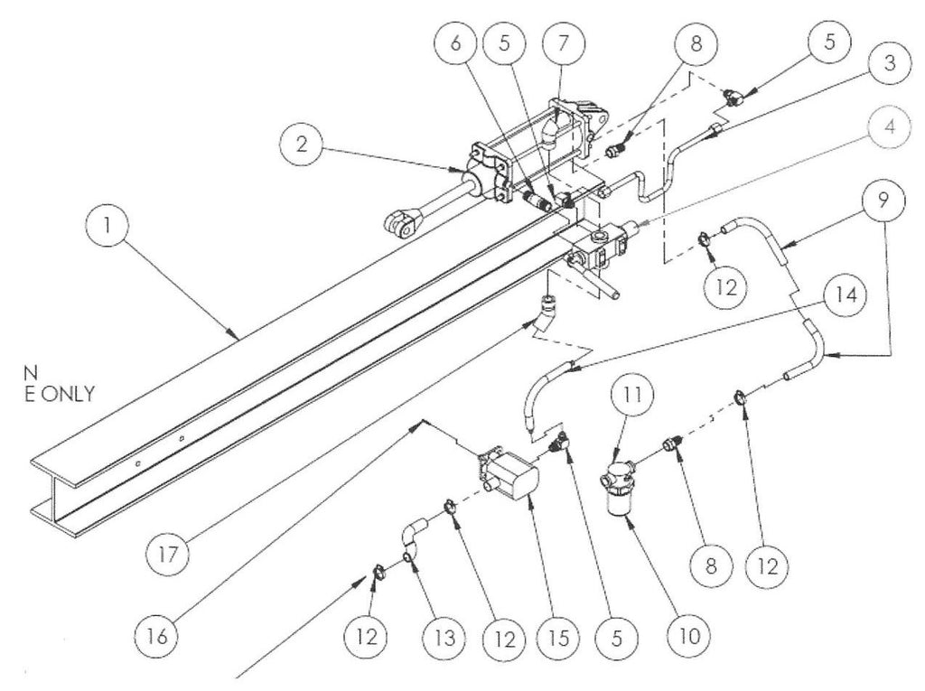 us praxis log splitter hydraulic parts