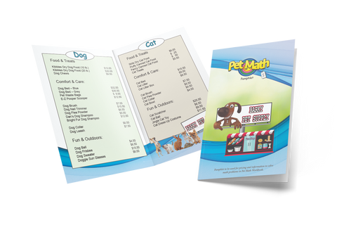 Free - Pet Math Printable Replacement Pamphlets
