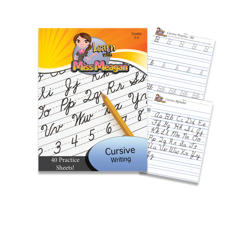 Cursive Handwriting - Printable Workbook (Grades 3-4)