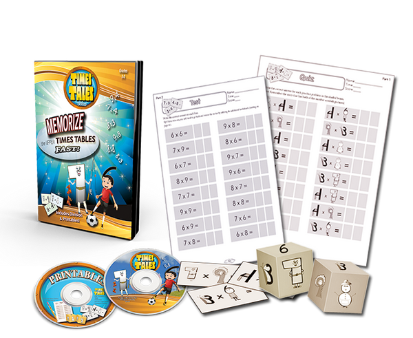 Times Tales® DVD - Memorize the Upper Times Tables Fast!