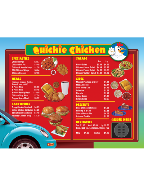 Drive-Thru Menu Math - Addition & Subtraction (Gr. 3-5)