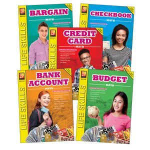 Real Life Math Skills Pack - Credit Card Math, Bank Account Math, Budget Math..(Grade 6-9)
