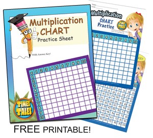 Multiplication Chart Free Printable -(Includes answer key and Free sample of Times Tales!)