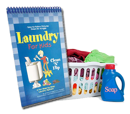 Laundry Clean 'n' Flip- Children learn how to do laundry with this instructional flipchart.