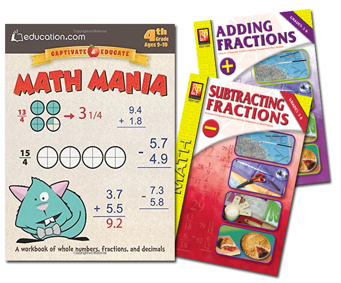 Fraction & Decimal- 3 Pack (Grades 4-5)