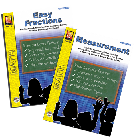 Measurements & Fractions (2 Pack) - Grades 1-2