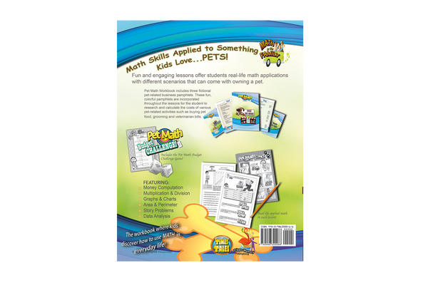 Pet Math Workbook - Real-Life Math of Owning a Pet - Grades 3- 5