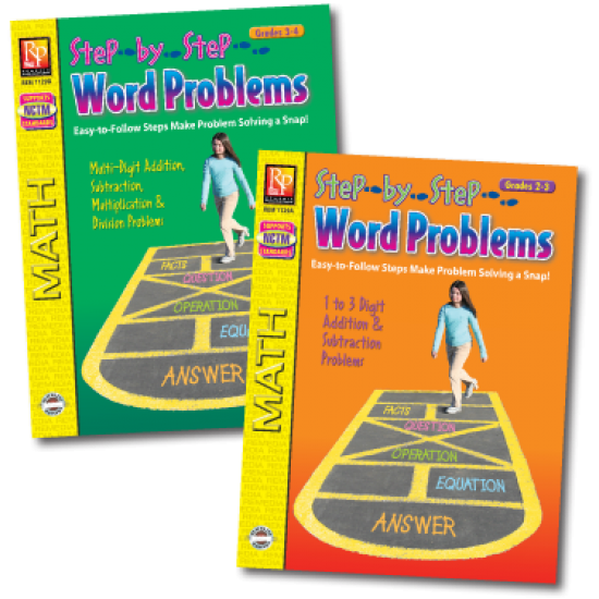 Step-by-Step Word Problems (2-Book Set) Grades 2-3 & 3-4