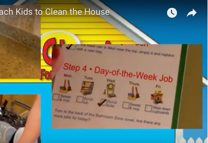 Chore Chart checklist so kids can checkoff the chores when completed.