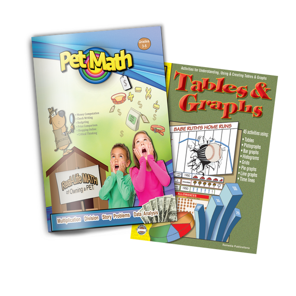 Tables, Graphs & Charts 2 Pack (Grades 3-4)