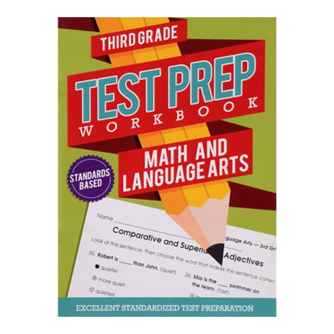 Test Prep Workbook- Math & Language Arts (Grade 3) #Z2