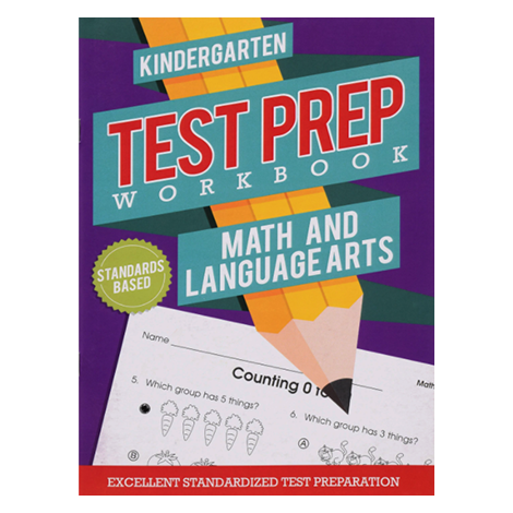Test Prep Workbook- Math & Language Arts (Kindergarten) #Z3