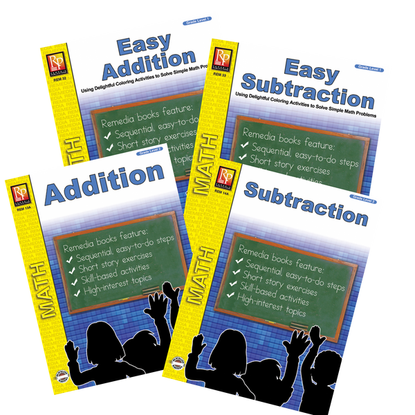 Easy Addition & Subtraction 4 PACK (Gr. 1-2)
