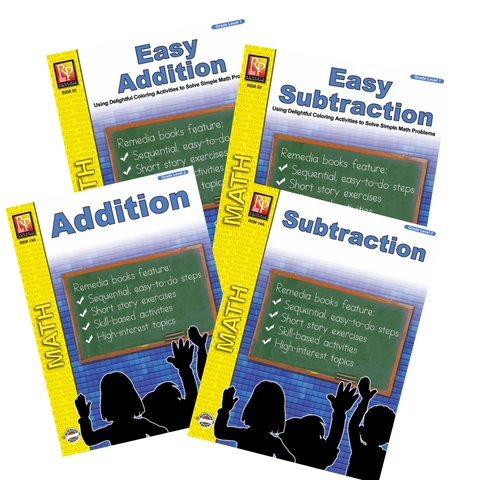Easy Addition & Subtraction (Set of 4) Grades 1-2