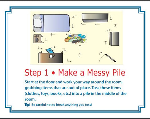 Kids Chore Chart Seven Steps For Kids To Clean A Messy Bedroom