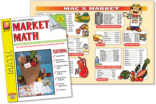 Grocery Market Math (Gr. 3-4 )