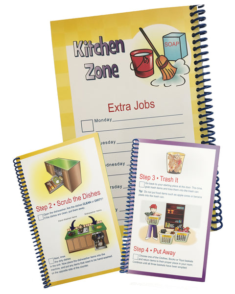 Kids Chore Chart BUNDLE Kit  Zone + Laundry Cleaning