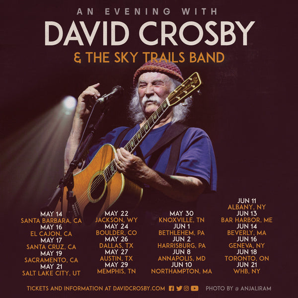 David Crosby & the Sky Trails Band announce first dates for 2020
