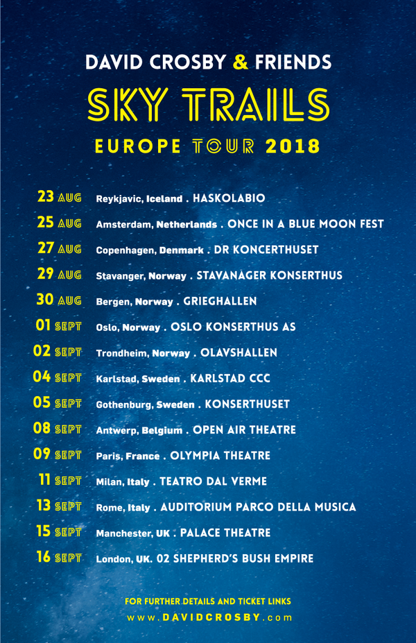 EU Dates added to the Sky Trails Tour 2018.