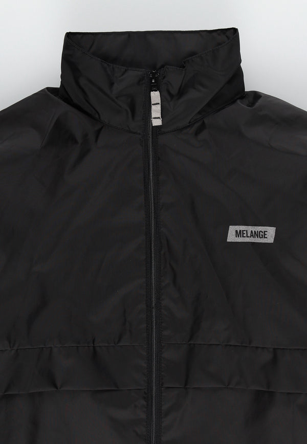 MELANGE - Black Windbreaker Jacket