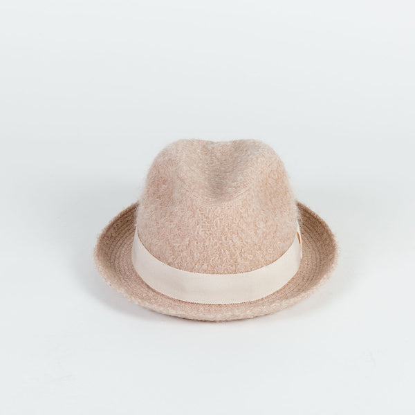 Pink Mohair Trilby Hat
