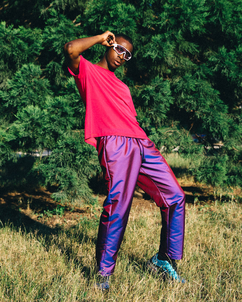 Red & Blue Holographic Pants
