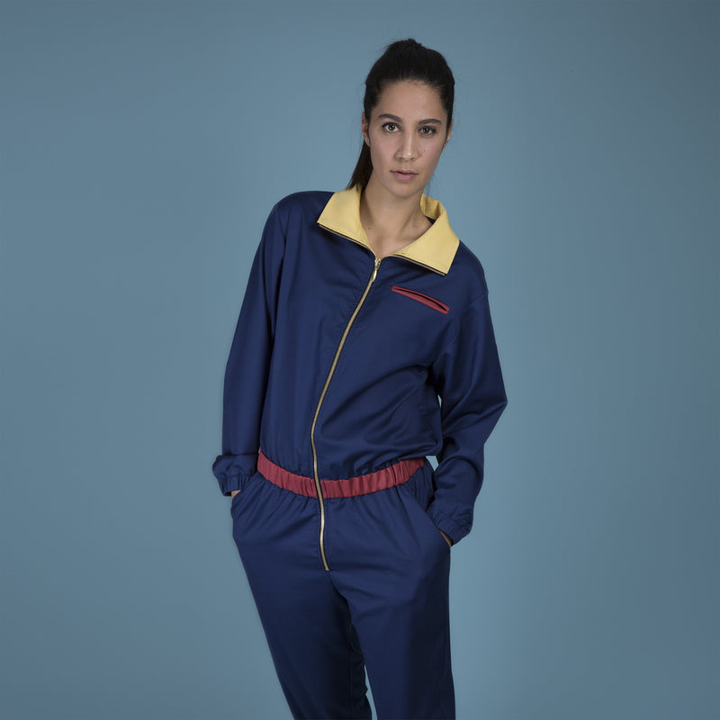 MELANGE - Multicolor Merino Wool Jumpsuit