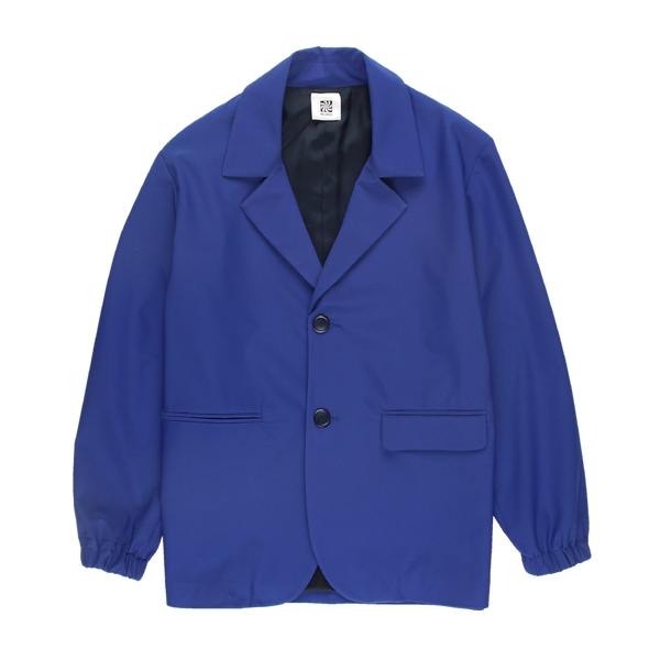 MELANGE Royal Blue Tergal Blazer Jacket