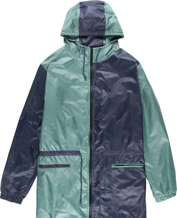 MELANGE Navy & Green Nylon Parka