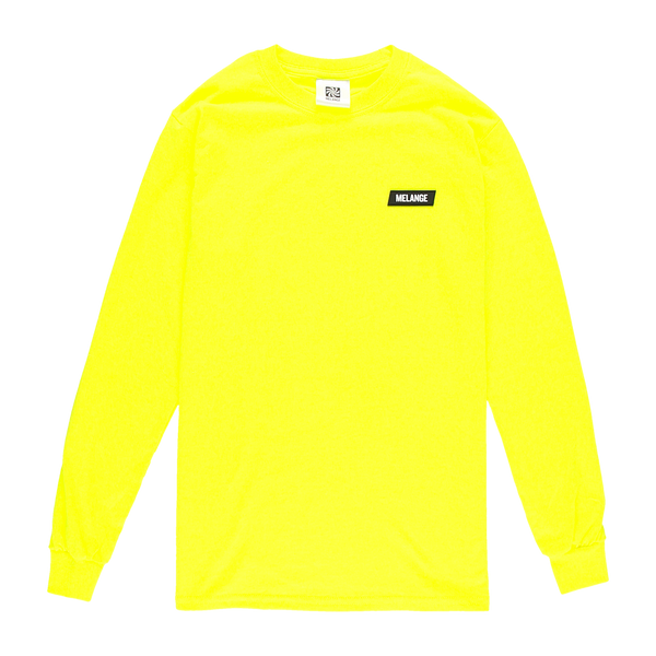 MELANGE - Electric Yellow Long Sleeve T-shirt Black Box Logo