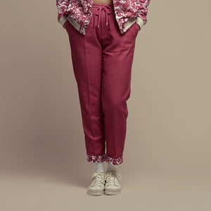 Cherry Cotton Setback Pants