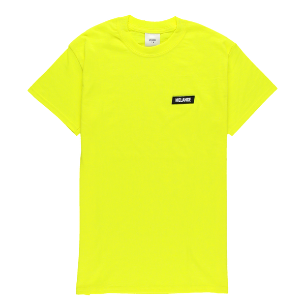MELANGE - Electric Yellow T-shirt Black Box Logo