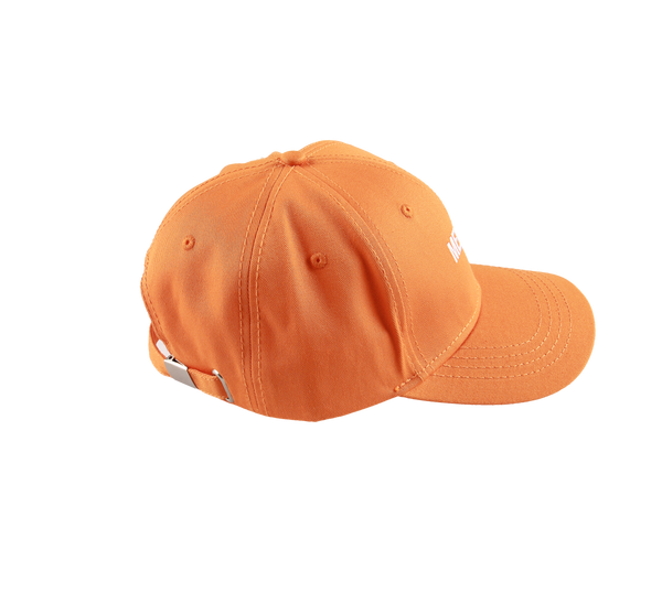 MELANGE - Orange Baseball Cap White Logo